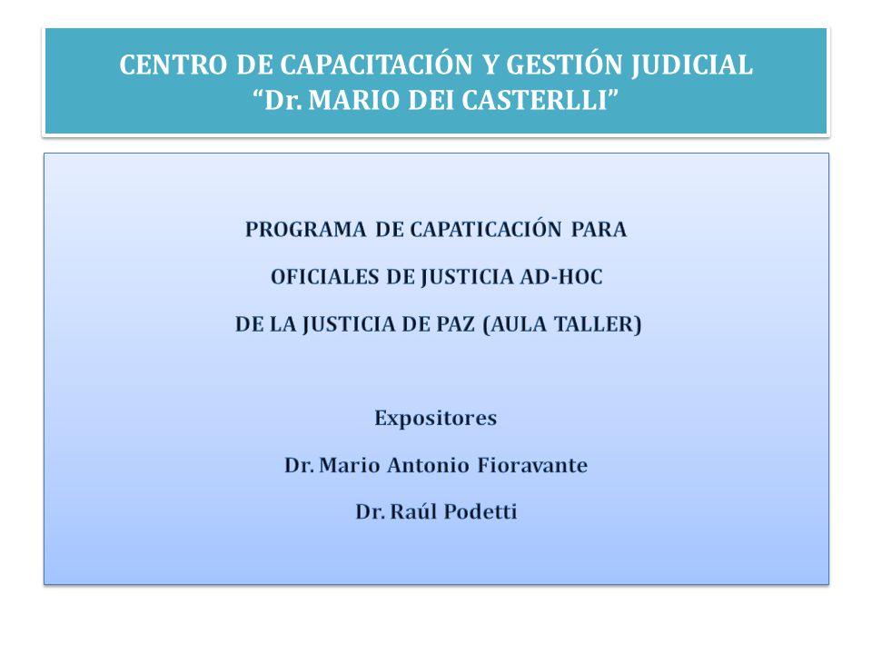 OFICIAL DE JUSTICIA ES UN FUNCIONARIO JUDICIAL ART.