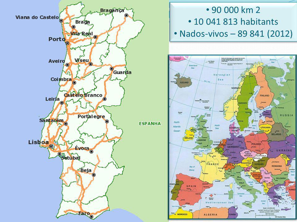 90 000 km 2 10 041 813 habitants Nados-vivos – 89 841 (2012) 90 000 km 2 10 041 813 habitants Nados-vivos – 89 841 (2012)