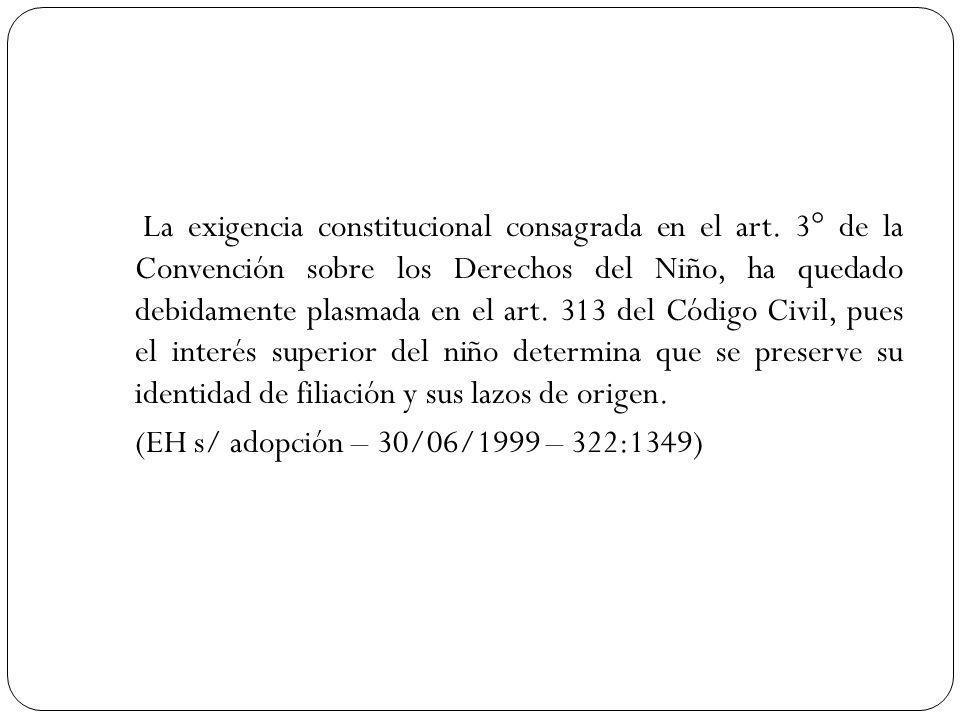 La exigencia constitucional consagrada en el art.
