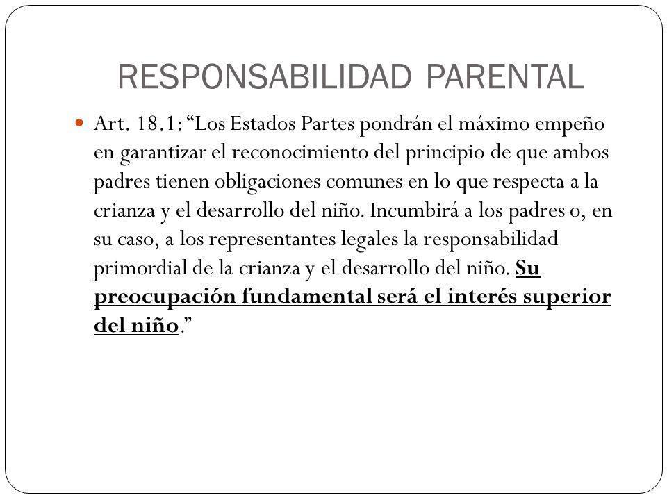 RESPONSABILIDAD PARENTAL Art.