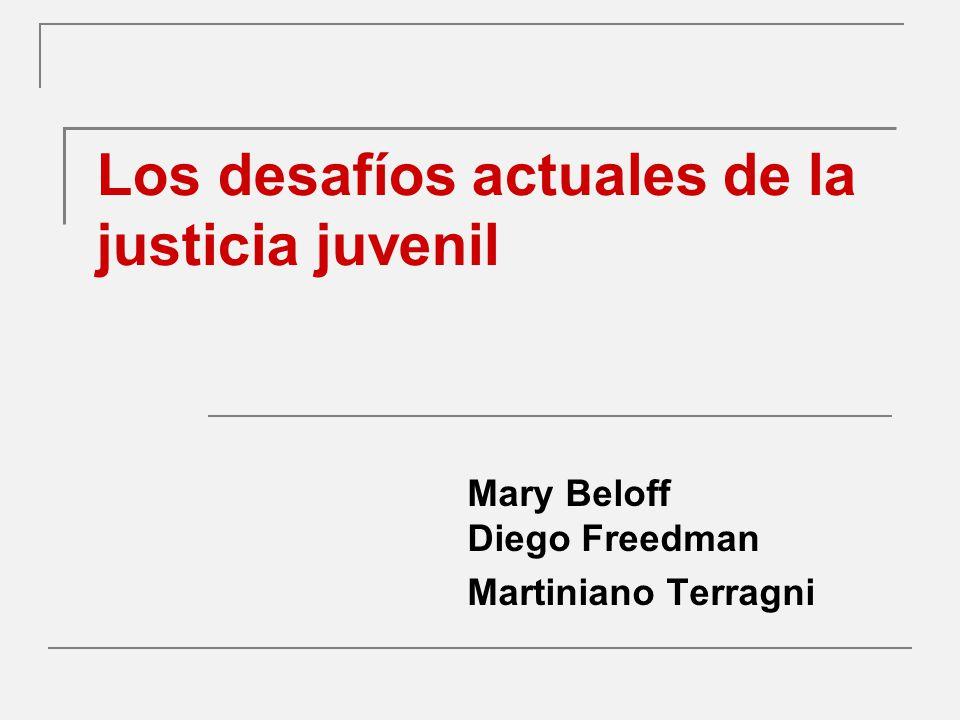 Los desafíos actuales de la justicia juvenil Mary Beloff Diego Freedman Martiniano Terragni