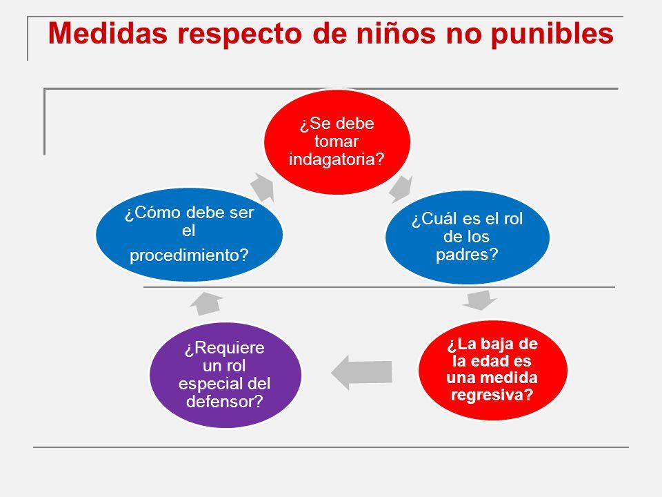 Medidas respecto de niños no punibles ¿Se debe tomar indagatoria.