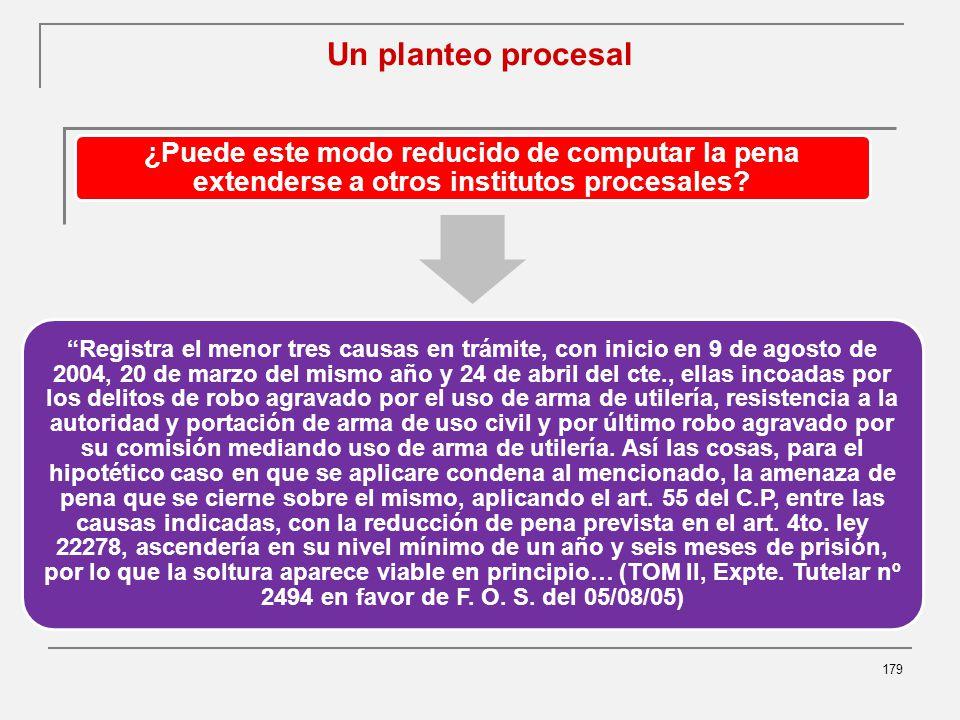 Un planteo procesal 179 ¿Puede este modo reducido de computar la pena extenderse a otros institutos procesales.