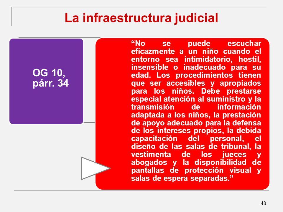 48 La infraestructura judicial OG 10, párr.
