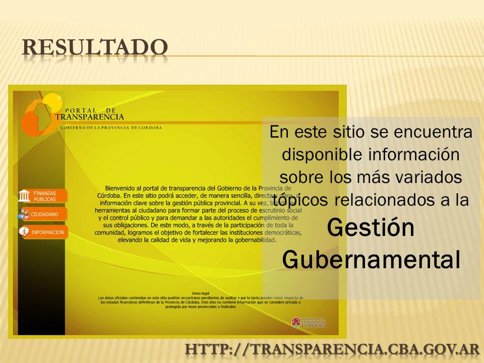 En este sitio se encuentra disponible información sobre los más variados tópicos relacionados a la Gestión Gubernamental