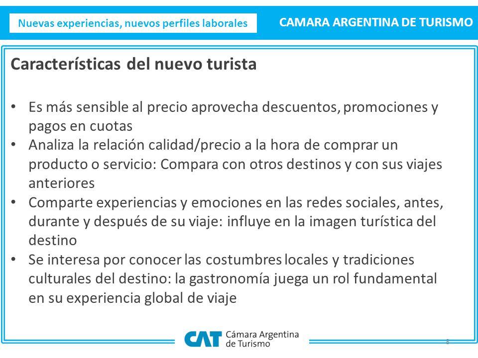 Nuevas experiencias, nuevos perfiles laborales CAMARA ARGENTINA DE TURISMO 9 FINALMENTE ¿Qué características toman valor en la nueva generación de empleados, para interactuar con el nuevo turista?