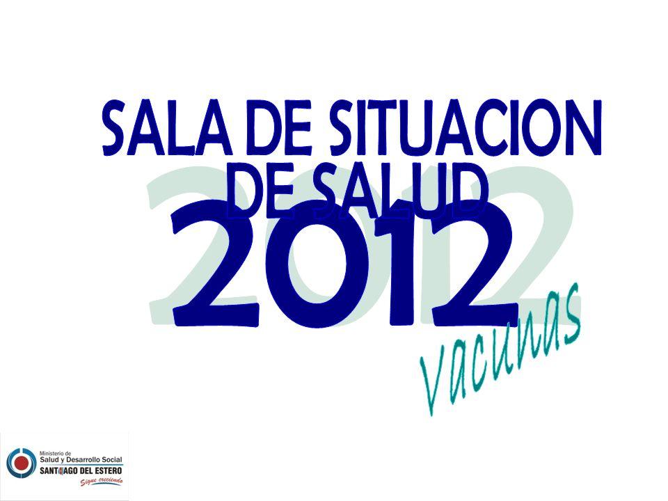 COBERTURA DE VACUNA ANTIGRIPAL POR DEPARTAMENTO Santiago del Estero 15/10/2012 Media Provincial: 83,04 %