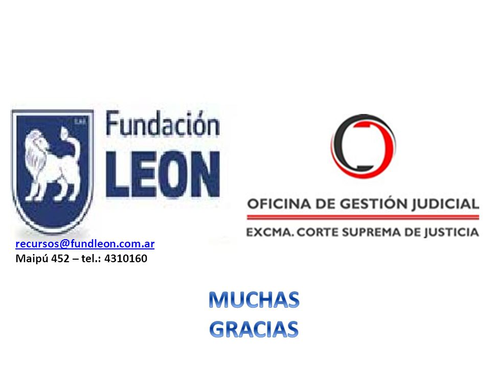 recursos@fundleon.com.ar Maipú 452 – tel.: 4310160