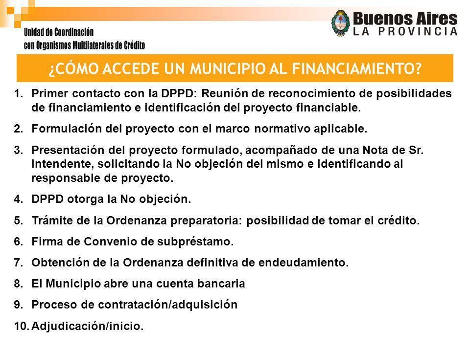 ¿CÓMO ACCEDE UN MUNICIPIO AL FINANCIAMIENTO.
