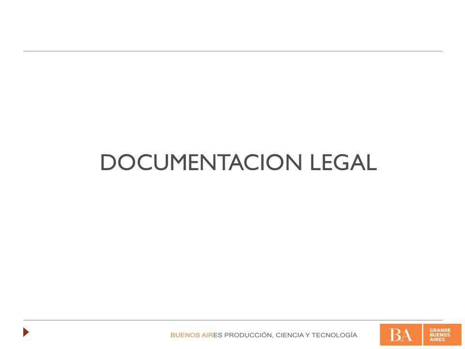 Documentación legal Establece la confidencialidad de la documentación que se entregue para el análisis del proyecto.