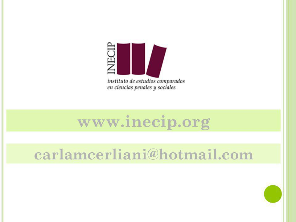 www.inecip.org carlamcerliani@hotmail.com