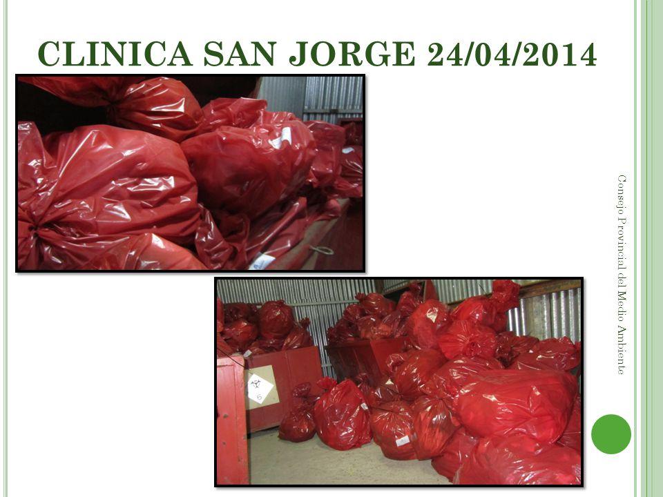 CLINICA SAN JORGE 24/04/2014 Consejo Provincial del Medio Ambiente