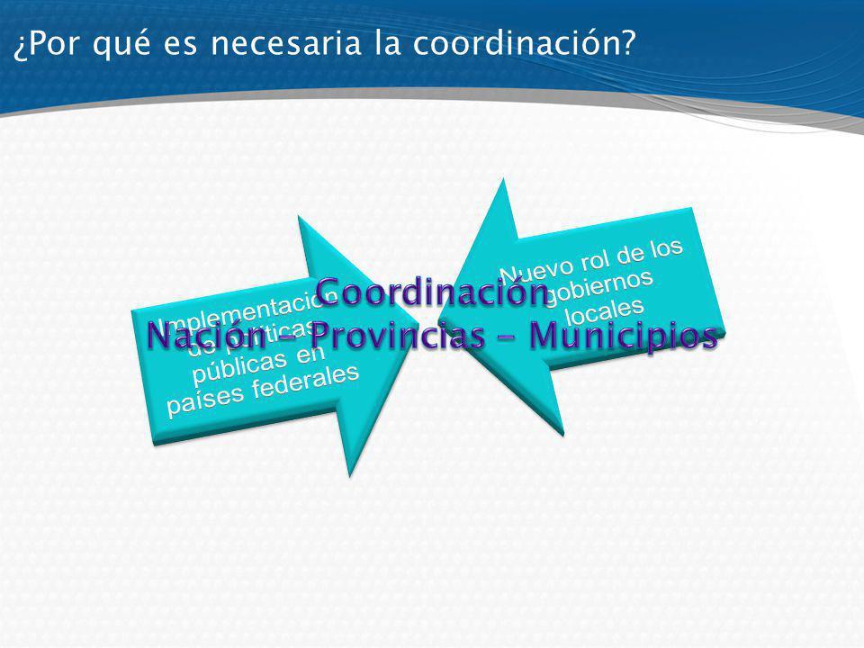 ¿Por qué es necesaria la coordinación?