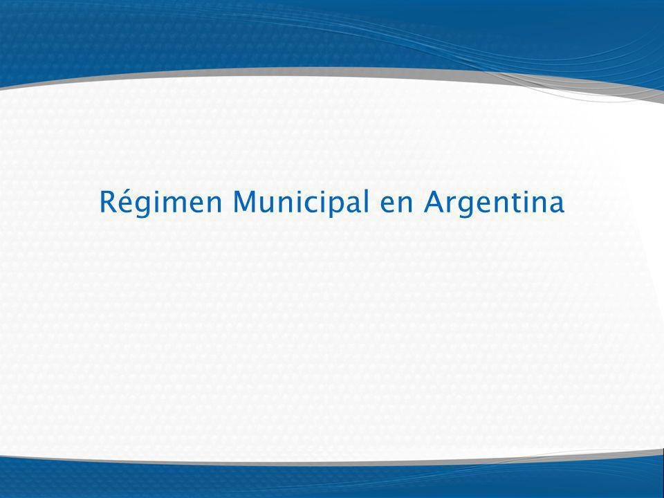 Régimen Municipal en Argentina