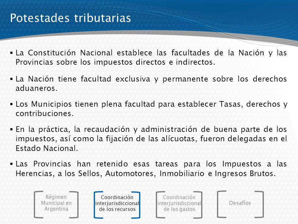 La Constitución Nacional establece las facultades de la Nación y las Provincias sobre los impuestos directos e indirectos. La Nación tiene facultad ex