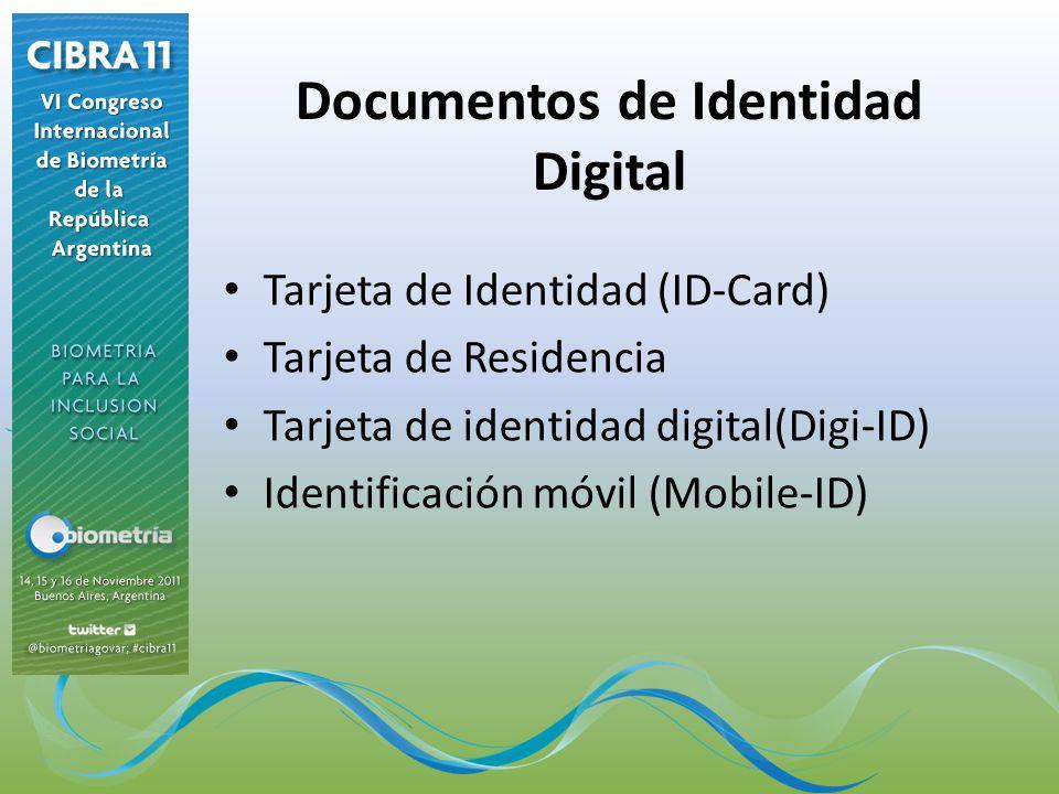 Documentos de Identidad Digital Tarjeta de Identidad (ID-Card) Tarjeta de Residencia Tarjeta de identidad digital(Digi-ID) Identificación móvil (Mobil