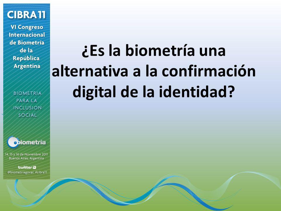 ¿Es la biometría una alternativa a la confirmación digital de la identidad?