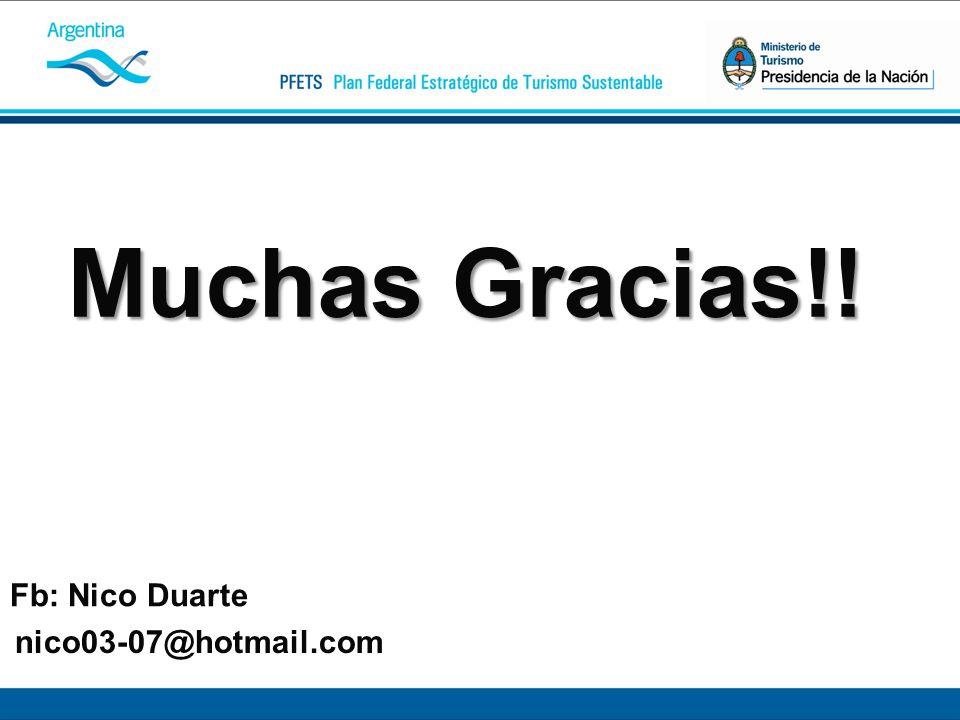 Fb: Nico Duarte nico03-07@hotmail.com Muchas Gracias!!