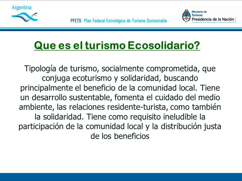Que es el turismo Ecosolidario.