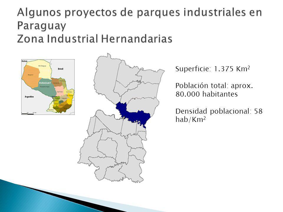 Superficie: 1.375 Km 2 Población total: aprox. 80.000 habitantes Densidad poblacional: 58 hab/Km 2