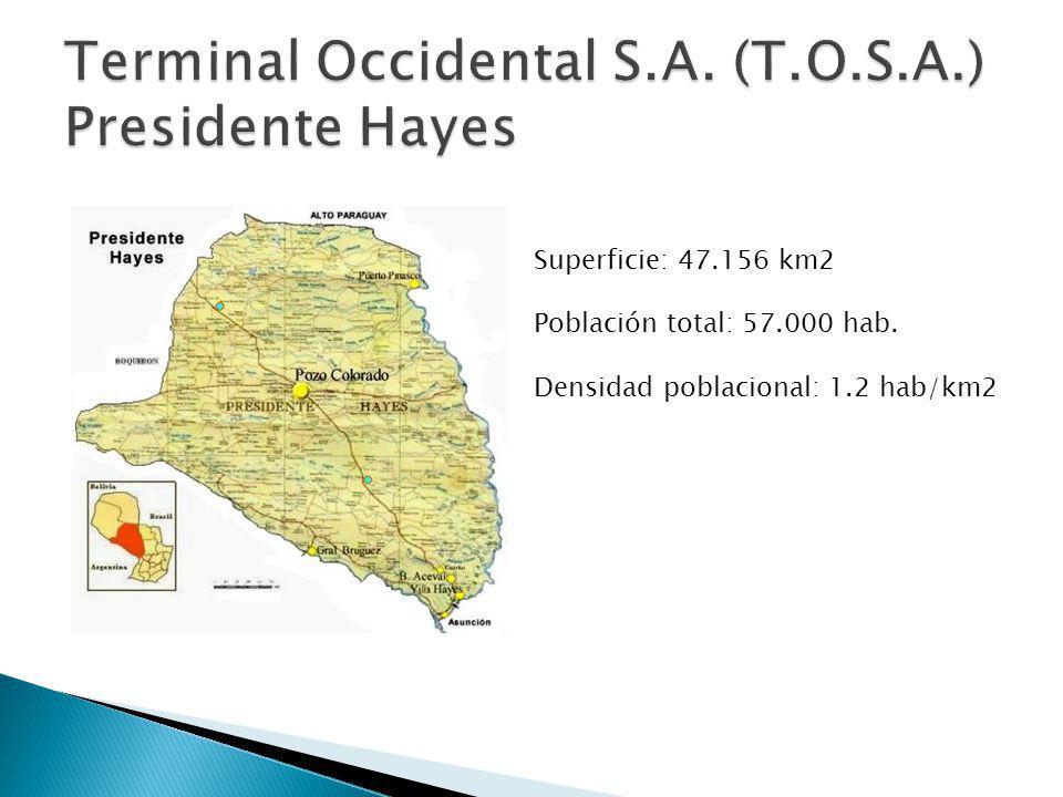 Superficie: 47.156 km2 Población total: 57.000 hab. Densidad poblacional: 1.2 hab/km2