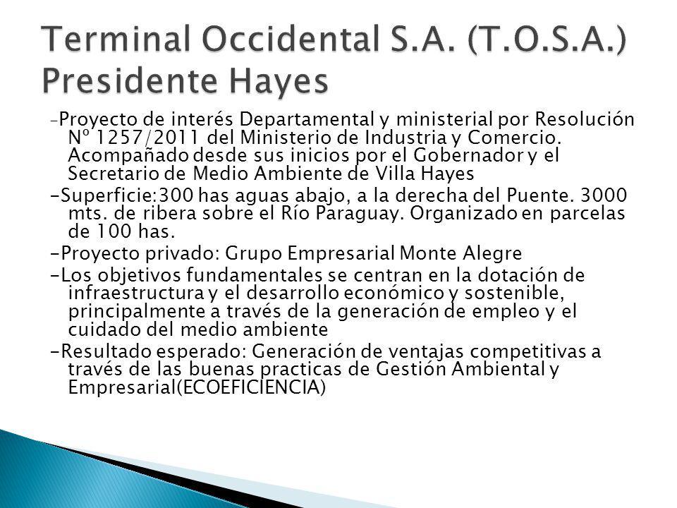 - Proyecto de interés Departamental y ministerial por Resolución Nº 1257/2011 del Ministerio de Industria y Comercio.