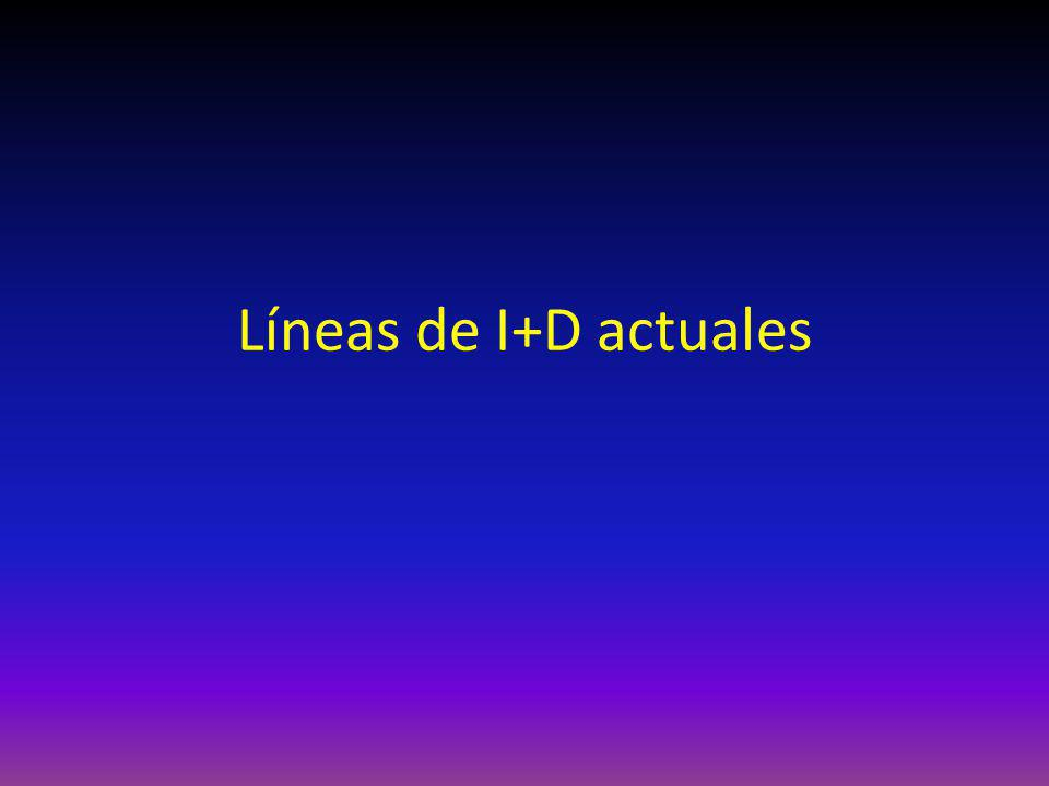 Líneas de I+D actuales