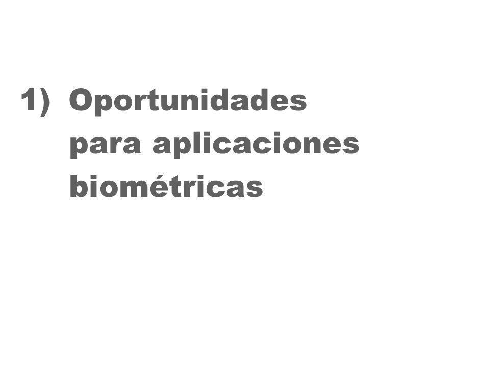 27 1)Oportunidades para aplicaciones biométricas