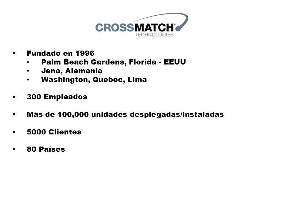3 Fundado en 1996 Palm Beach Gardens, Florida - EEUU Jena, Alemania Washington, Quebec, Lima 300 Empleados Más de 100,000 unidades desplegadas/instaladas 5000 Clientes 80 Países