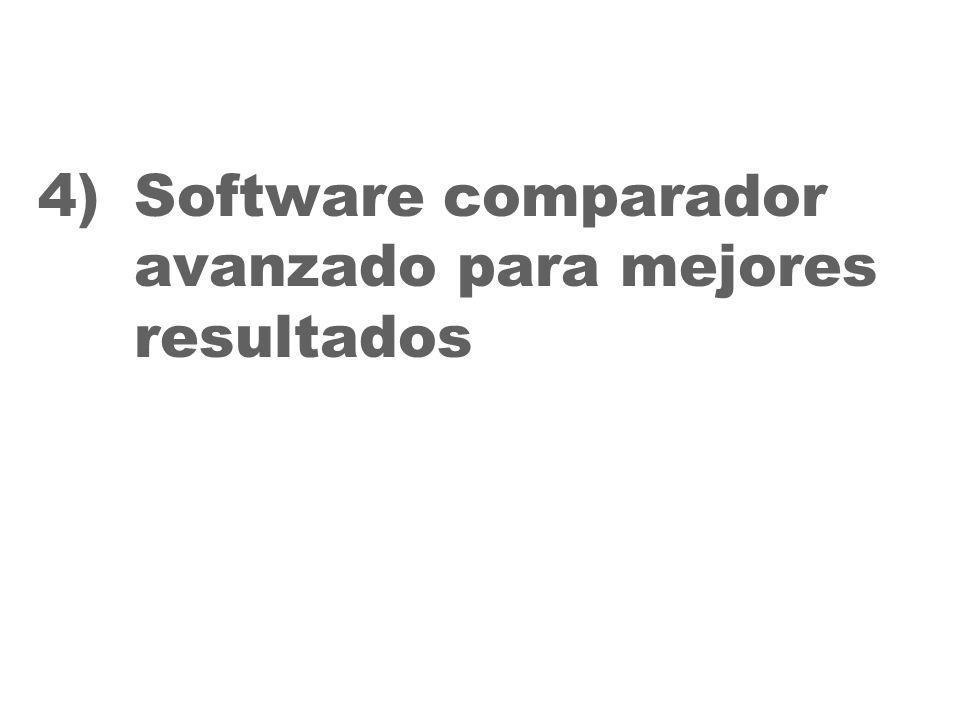 30 4)Software comparador avanzado para mejores resultados