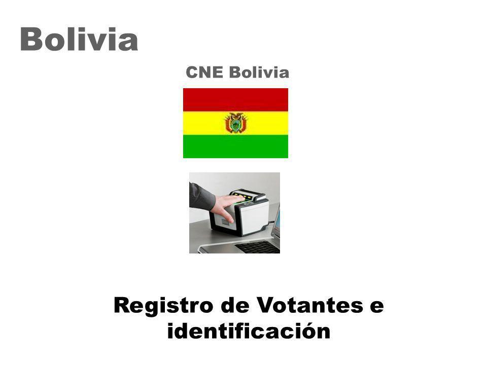 31 Bolivia CNE Bolivia Registro de Votantes e identificación