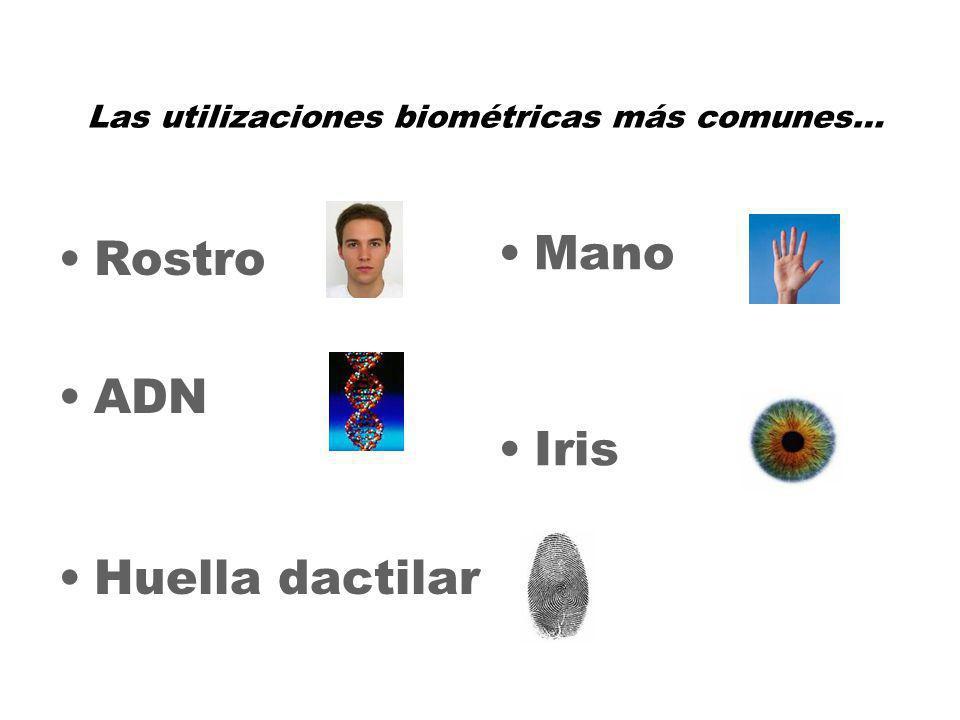 9 Rostro ADN Huella dactilar Mano Iris Las utilizaciones biométricas más comunes…