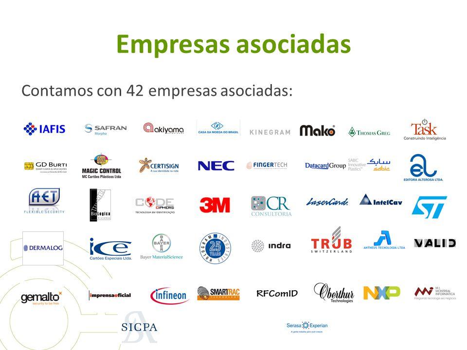 Empresas asociadas Contamos con 42 empresas asociadas: