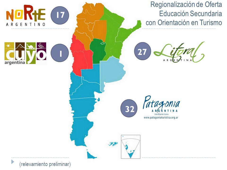 17 132 27 Regionalización de Oferta Educación Secundaria con Orientación en Turismo (relevamiento preliminar)