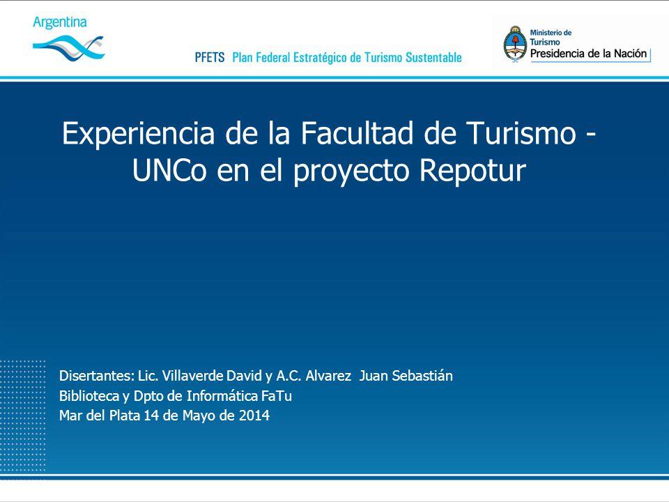 Disertantes: Lic. Villaverde David y A.C. Alvarez Juan Sebastián Biblioteca y Dpto de Informática FaTu Mar del Plata 14 de Mayo de 2014 Experiencia de