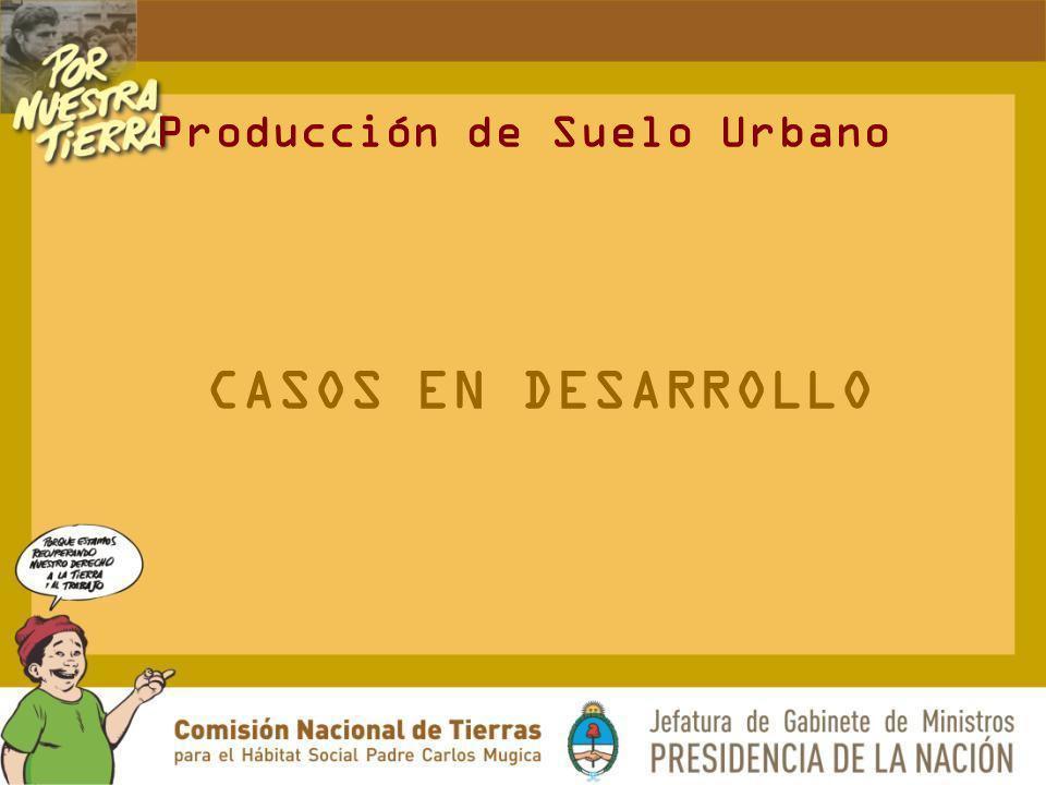 CASOS EN DESARROLLO Producción de Suelo Urbano