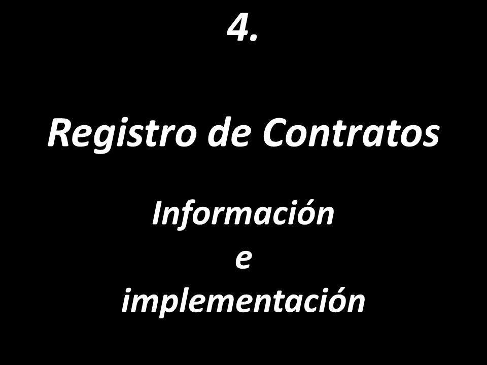 4. Registro de Contratos Información e implementación