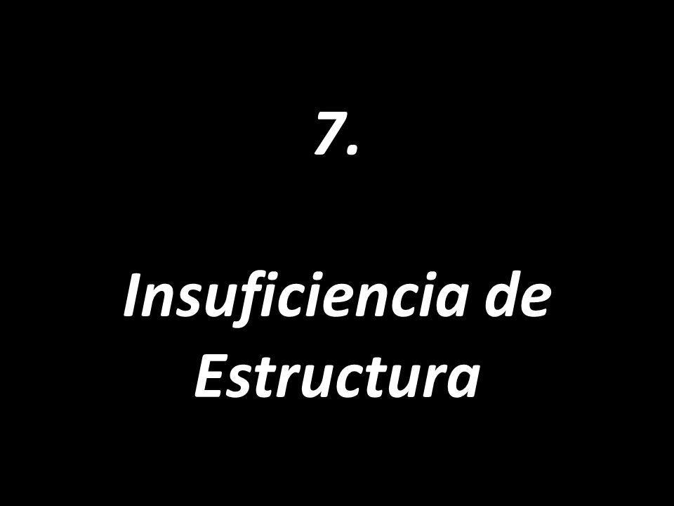 7. Insuficiencia de Estructura