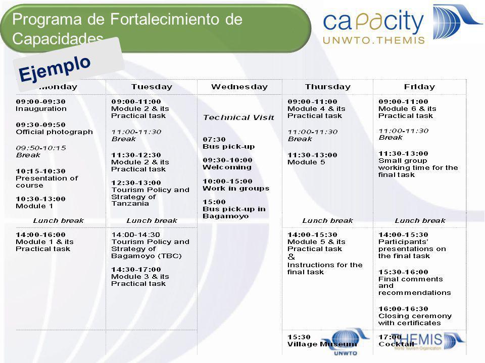 Agenda Programa de Fortalecimiento de Capacidades Ejemplo