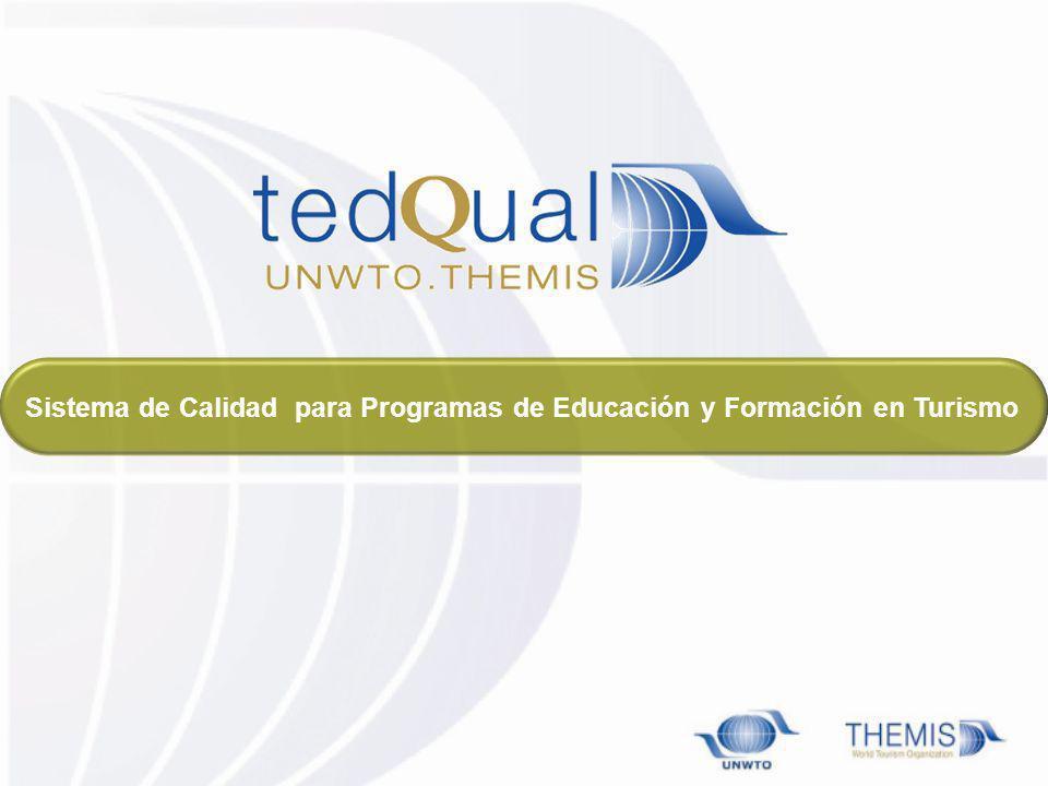 Sistema de Calidad para Programas de Educación y Formación en Turismo
