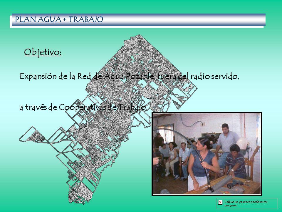 PLAN AGUA + TRABAJO Expansión de la Red de Agua Potable, fuera del radio servido, a través de Cooperativas de Trabajo.