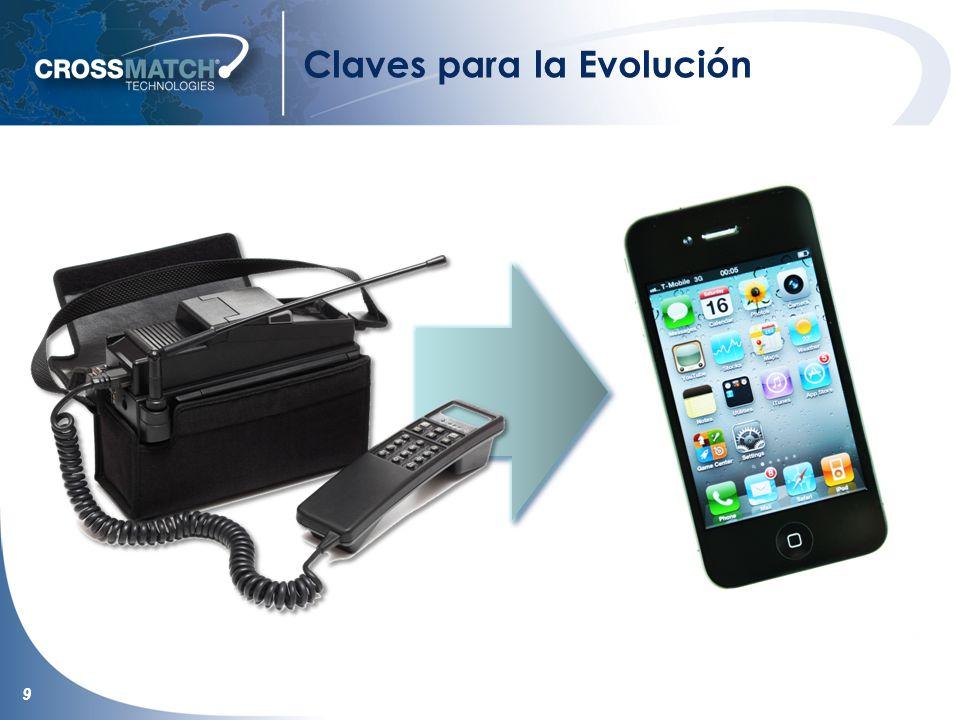 10 Claves para la Evolución La industria debe converger la administración y Captura de Datos para alcanzar por completo la próxima generación en la evolución biométrica Al Igual que con los Teléfonos Celulares, la Interfaz Multimodal Es Crítica