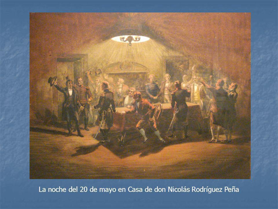 La noche del 20 de mayo en Casa de don Nicolás Rodríguez Peña