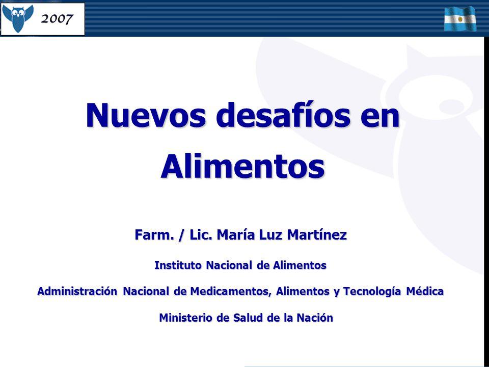 Nuevos desafíos en Alimentos Farm./ Lic.