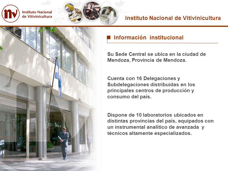 Su Sede Central se ubica en la ciudad de Mendoza, Provincia de Mendoza. Cuenta con 16 Delegaciones y Subdelegaciones distribuidas en los principales c
