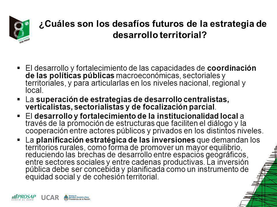 ¿Cuáles son los desafíos futuros de la estrategia de desarrollo territorial? El desarrollo y fortalecimiento de las capacidades de coordinación de las