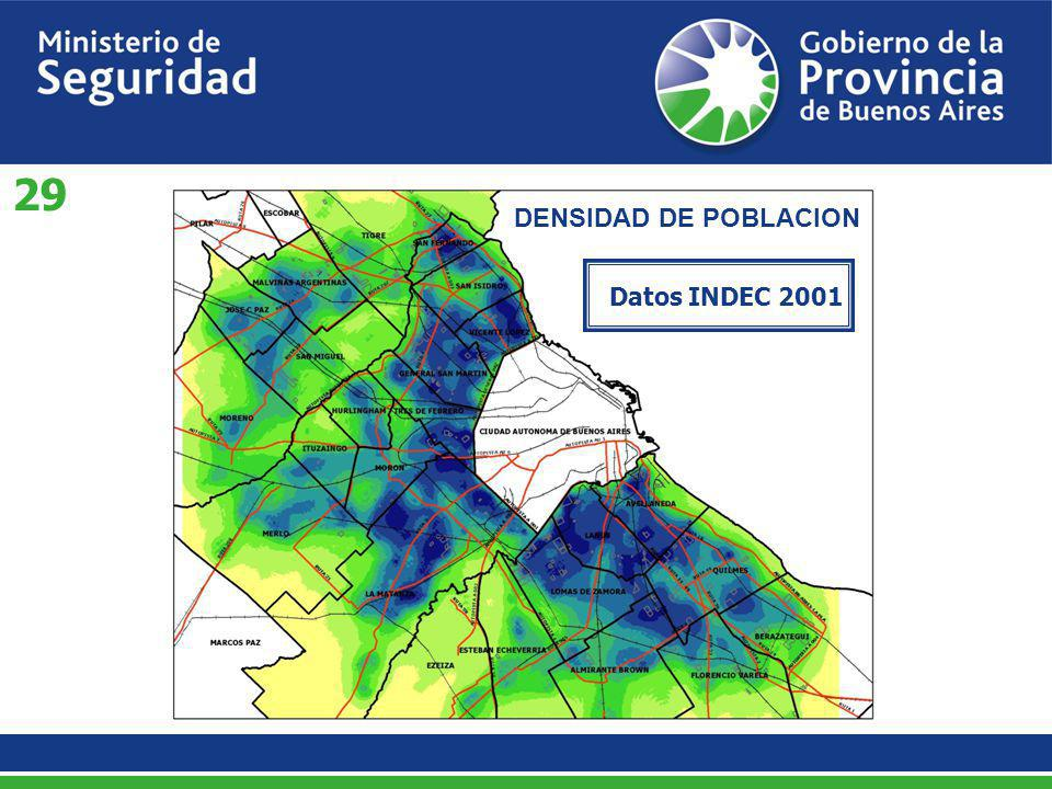 Datos INDEC 2001 DENSIDAD DE POBLACION 29