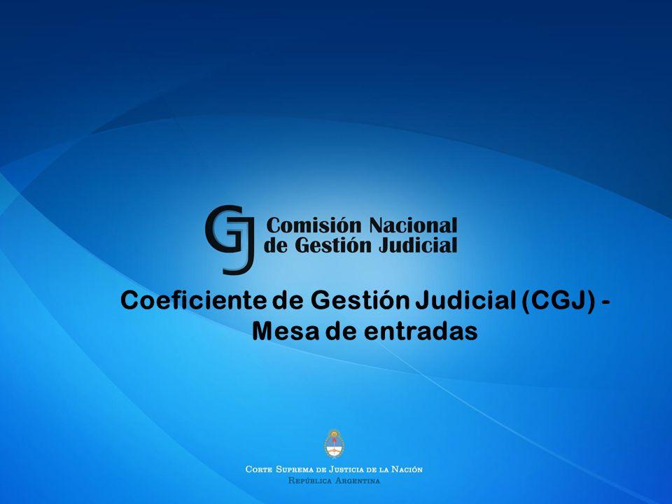 Coeficiente de Gestión Judicial (CGJ) - Mesa de entradas