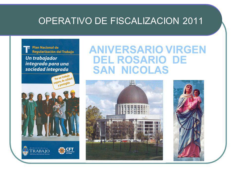 ANIVERSARIO VIRGEN DEL ROSARIO DE SAN NICOLAS OPERATIVO DE FISCALIZACION 2011