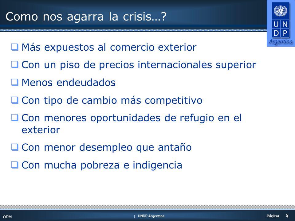 | UNDP Argentina ODM 5 5 Página Como nos agarra la crisis….